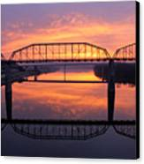 Sunrise Walnut Street Bridge 2 Canvas Print by Tom and Pat Cory
