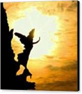 Sunset Angel Canvas Print by Valentino Visentini
