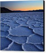 Sunset At Badwater In Death Valley Canvas Print by Pierre Leclerc Photography