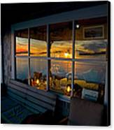 Sunset At Fletchers Camp Canvas Print by Charles Harden