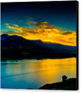 Sunset At Horsetooth Reservoir Canvas Print by Harry Strharsky