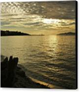 Sunset At Kitsilano Canvas Print by Tom Buchanan