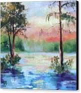 Sunset Bayou Canvas Print