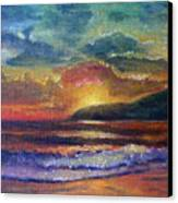Sunset Beach Canvas Print by Linda Pope