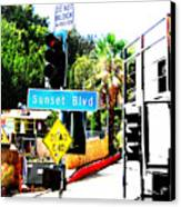 Sunset Blvd Canvas Print