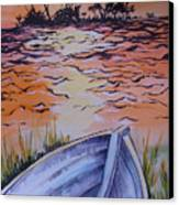 Sunset Dinghy Canvas Print