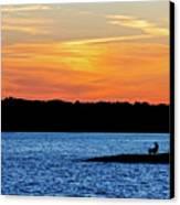 Sunset Fisherman  Canvas Print