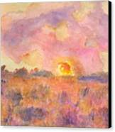 Sunset From The Road Canvas Print