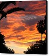 Sunset God's Fingers In Clouds  Canvas Print