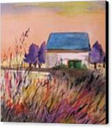 Sunset Grasses Canvas Print by John Williams