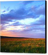 Sunset In Ithaca South Hill Canvas Print