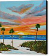 Sunset In Paradise Canvas Print by Lloyd Dobson