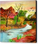 Sunset In Zion Canvas Print