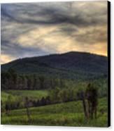 Sunset On Appleberry Mountain 2 Canvas Print