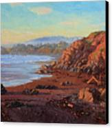 Sunset On Cambria Ca Canvas Print