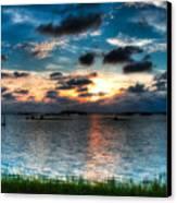 Sunset On Cedar Key Canvas Print by Rich Leighton