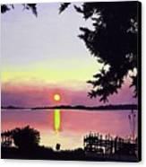 Sunset On Lake Dora Canvas Print