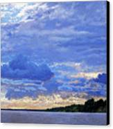 Sunset On The Volga. Gorodets Canvas Print