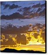 Sunset Over Horsetooth Rock Canvas Print by Harry Strharsky
