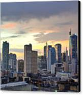 Sunset Over  Makati City, Manila Canvas Print