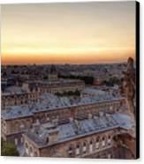 Sunset Over Paris Canvas Print