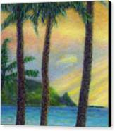 Sunset Palms Canvas Print