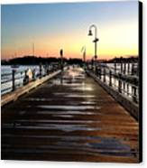 Sunset Pier Canvas Print by Extrospection Art