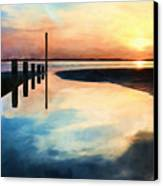 Sunset Reflections Canvas Print by Trevor Wintle