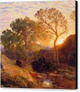 Sunset Canvas Print by Samuel Palmer