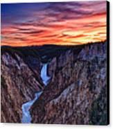 Sunset Waterfall Canvas Print