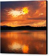 Sunset With A Golden Nugget Canvas Print by James BO  Insogna