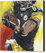 Super Bowl Mvp Hines Ward Canvas Print by David Courson