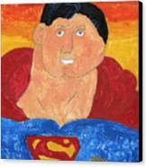 Superman Canvas Print by Don Larison