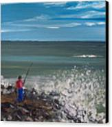 Surf Fishin Canvas Print