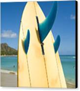 Surfboard Canvas Print by Dana Edmunds - Printscapes