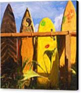 Surfboard Garden Canvas Print by Ron Regalado