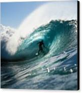Surfer At Pipeline Canvas Print by Vince Cavataio - Printscapes