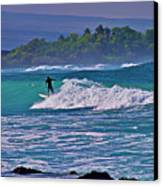 Surfer Rides The Outside Break Canvas Print