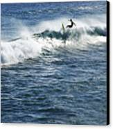 Surfer Riding A Wave Canvas Print by Brandon Tabiolo - Printscapes