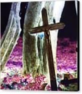 Surreal Crucifixion Canvas Print by Karin Kohlmeier