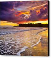 Surreal Sunset Canvas Print by Iris Greenwell