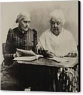 Susan B. Anthony And Elizabeth Cady Canvas Print by Everett