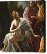 Susanna And The Elders Canvas Print by Ottavio Mario Leoni