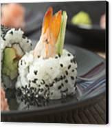Sushi In Restaurant Canvas Print