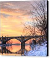 Susquehanna Sunrise Canvas Print by JC Findley