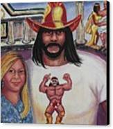 Suzanne With The Macho Man Canvas Print by Suzanne  Marie Leclair