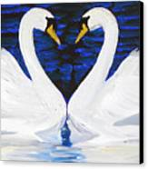 Swan Heart Canvas Print