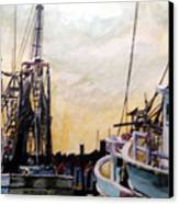 Swansboro Shrimp Boats Canvas Print