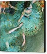 Swaying Dancer In Green Canvas Print