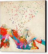 Sweet Jenny Bursting With Music Canvas Print